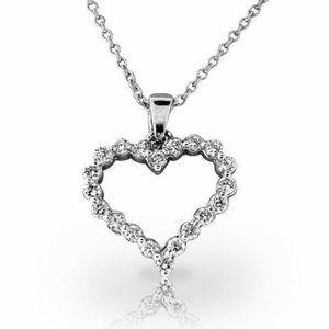 Jewelry - 14K White gold gorgeous round cut 5 ct diamonds pe
